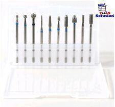 Box 10 pezzi punte diamantate per fresa manicure cuticole ricostruzione unghie