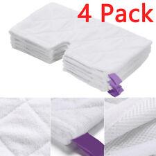 4 Microfiber Steam Mop Pocket Pads for Shark S3501, S3601, S3801CO, S3901