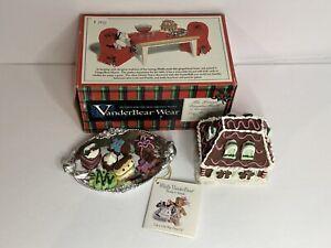Vintage Vanderbear Grand VanderBall GingerBear Manor Trinket Box & Dessert Tray