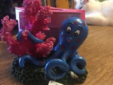 New listing �Top Fin Decor/ Ornament Octopus W/ Coral�