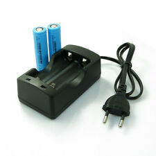 Dual Slot Battery Charger + 2x 18650 3.7V 4200mAh Li-ion Rechargeable Battery