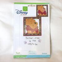 "Disney Winnie the Pooh cross stitch KIT ""Bother Free"" 5"" x 7"" frame"