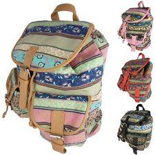 Damen Rucksack Stoffrucksack Canvas Retro Vintage backpack bunt Ethno Style 7021