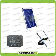 Kit Supporto Pannello Solare 20W 12V regolatore di carica 5A Testapalo giardino