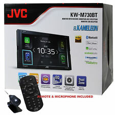 "JVC KW-M730BT 6.8"" In-Dash Double-Din Bluetooth Receiver Android/ Dual USB/ EQ"