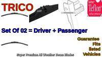 2x Trico Premium Wiper Beam Blades 2009-2010 VW TOUAREG Set=02pc Left+Right