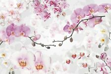 NON WOVEN giant wallpaper 368x248cm Pink tree flowers Wall Mural for bedroom