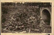 1. Weltkrieg Kriegs-Postkarte Originalaufnahme Soldaten Soldiers Ausrüstung AK