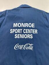 Vintage Hilton Button Bowling Shirt Monroe Sport Center Coca-Cola Seniors Medium