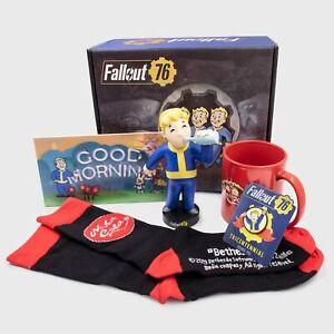 CultureFly NEW Fallout 76 Collectors Box -Party Boy Vinyl, Mug, Socks,Pin, Sign