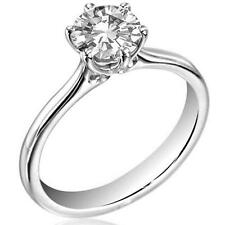 1ct Diamond Solitaire Platinum (950) Engagement Ring UK Hallmarked (DU124)