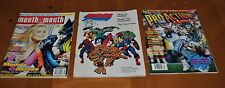 PRO, MOUTH TO MOUTH & PRO ACTION MAGAZINE LOT: MARVEL COMICS, FOOTBAL & MODELS