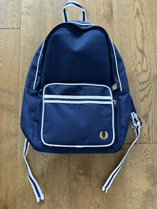 Fred Perry Twin Tipped Backpack (Navy), NEW + FREE EXPRESS SHIPPING to your door