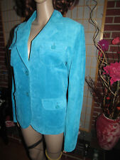 DANIER M Gem Blue Quality Genuine Leather Long Sleeve Women Boutique Fall Jacket