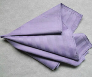 Hankie COTTON Pocket Square Handkerchief MENS Hanky PALE PURPLE STRIPED