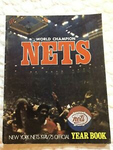 1974 75 NEW YORK NETS Yearbook JULIUS ERVING MELCHIONNI Billy Paultz ABA Champs