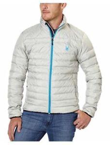 Men's Spyder Prymo Down Jacket Cirrus Electric Blue Size XL