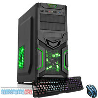 AMD Dual Core 8GB 1TB Desktop Gaming PC Computer  HD ULTRA FAST Green Goblin