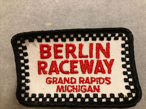 NOS Vintage auto racing patches  BERLIN RACEWAY new Old stock patch Mid 1970s