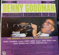 Benny Goodman Vinyl LP- Performance Recordings 1937-1938 Volume 2 FREE SHIPPING