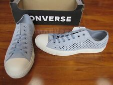 NEW Converse Chuck Taylor AS OX Low Top Shoes Mens 11 Perforated Grey Suede $70