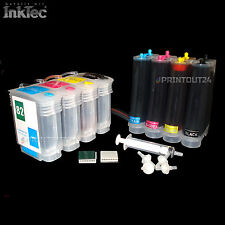 CISS continuous ink system refill set for HP 10XL HP82XL C4911 C4912 C4913 C4939