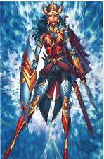 Jamie Tyndall Comic Artist SIGNED JLA Rolling Stone Art Print ~ Wonder Woman