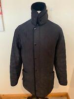 Mens Blue Barbour Microfibre Polarquilt Long Jacket / Coat - Size Medium (M) J31