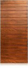 """Oasis Design - 36""""x96"""" Exterior Unfinished Modern Mahogany Single Pre-Hung Door"""