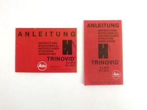 Leica Trinovid  8x20 C / 10X20 C Instruction Manual and Sheet