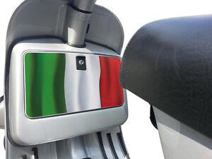 Tool Box Glove Box Sticker fits Vespa PX T5 LML Scooter Italian Flag Decal TB10