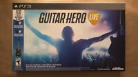 GUITAR HERO LIVE NEW OPEN BOX NEVER USED COMPLETE WIRELESS BUNDLE SET PS3