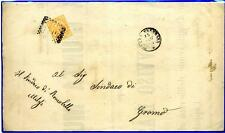 ITALIA - Regno - 1876 - Da Piazza Brembana/Bg a Gromo/Bg - 10 cent. -  V. E. II