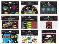 Superhero Comic Birthday Party Celebration Decoration Tablewear Ballons Loot Bag