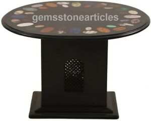 "18""x14"" Modern Top Oval Coffee Table With 15"" Tall Stand Christmas Gift Décor"