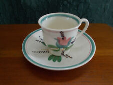 Vintage Blue Ridge Southern Pottery Demitasse Cup and Saucer *WATER LILY*