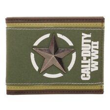 Nuevo Para Hombres Niños Ejército Cammo Tri-fold wallet con cadena de seguridad.