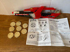 93 Mighty Morphin Power Rangers Red Blade Blaster w/8 Morpher coins & instruct
