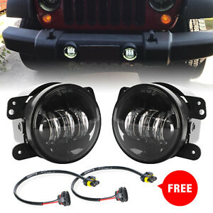4 Inch 60W CREE LED Fog Lights Round Lamp For Jeep Wrangler JK JL Dodge Chrysler
