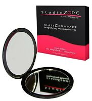 Large Compact Mirror - Purse & Travel. 1X and 10X Magnification