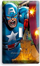 Captain America Superhero Shield Comics Single Light Switch Wall Plate Art Cover