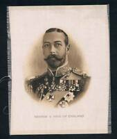 1915 ITC Great War Leaders Tobacco Card George V King Of England