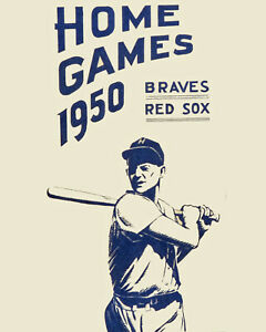 Art Poster - 1950 Boston Braves & Red Sox Schedule - 8x10 Photo