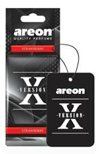 NEW Areon X Version Strawberry Scent Car Air Freshener Quality Car Perfume