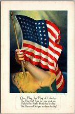 New listing Vintage United States, American Flag, Stars and Stripes, Poem Verse Postcard