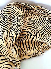 "Velveteen Beige and Black Giraffe Print Fabric 2 1/2 yds  45"" X 90"""