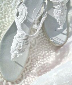 Wedding Shoes, Rope Sandals, Comfortable Shoes,  Bridal Sandals, Lace up Sandals