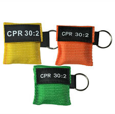 150 pcs/pack CPR Masks KeyRing Pouch First Aid Training CPR Face Shield