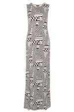 BNWT TOPSHOP black & white MAXI dress UK 8