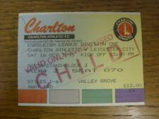 16/10/1993 Ticket: Charlton Athletic v Leicester City [Stamped 'Child'] (creased